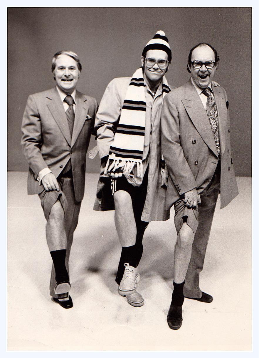 Eric Morecambe And Ernie Wise With Elton John Morecambe Elton John Captain Fantastic