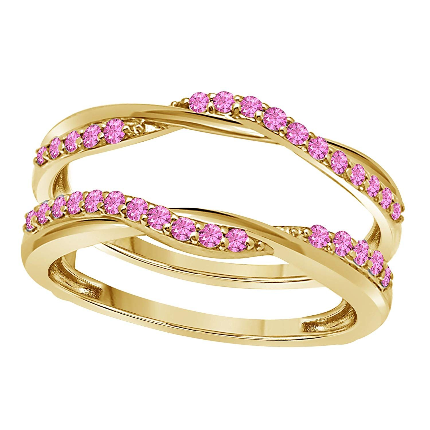14K Yellow Gold Plated Delicate Bypass Infinity Style
