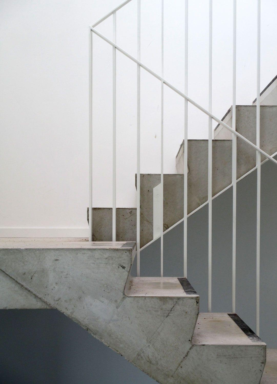 rampe d 39 escalier en acier thermolaqu blanc white steel. Black Bedroom Furniture Sets. Home Design Ideas