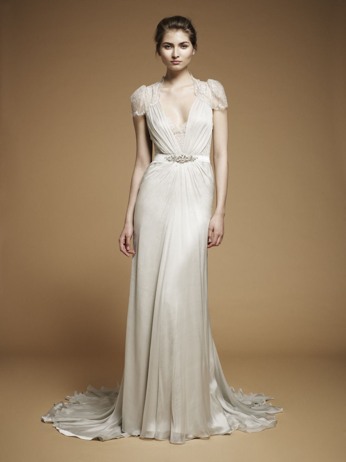 Great gatsby inspired wedding dresses   Wedding Looks Inspired By Oscar Gowns  Jenny packham Wedding