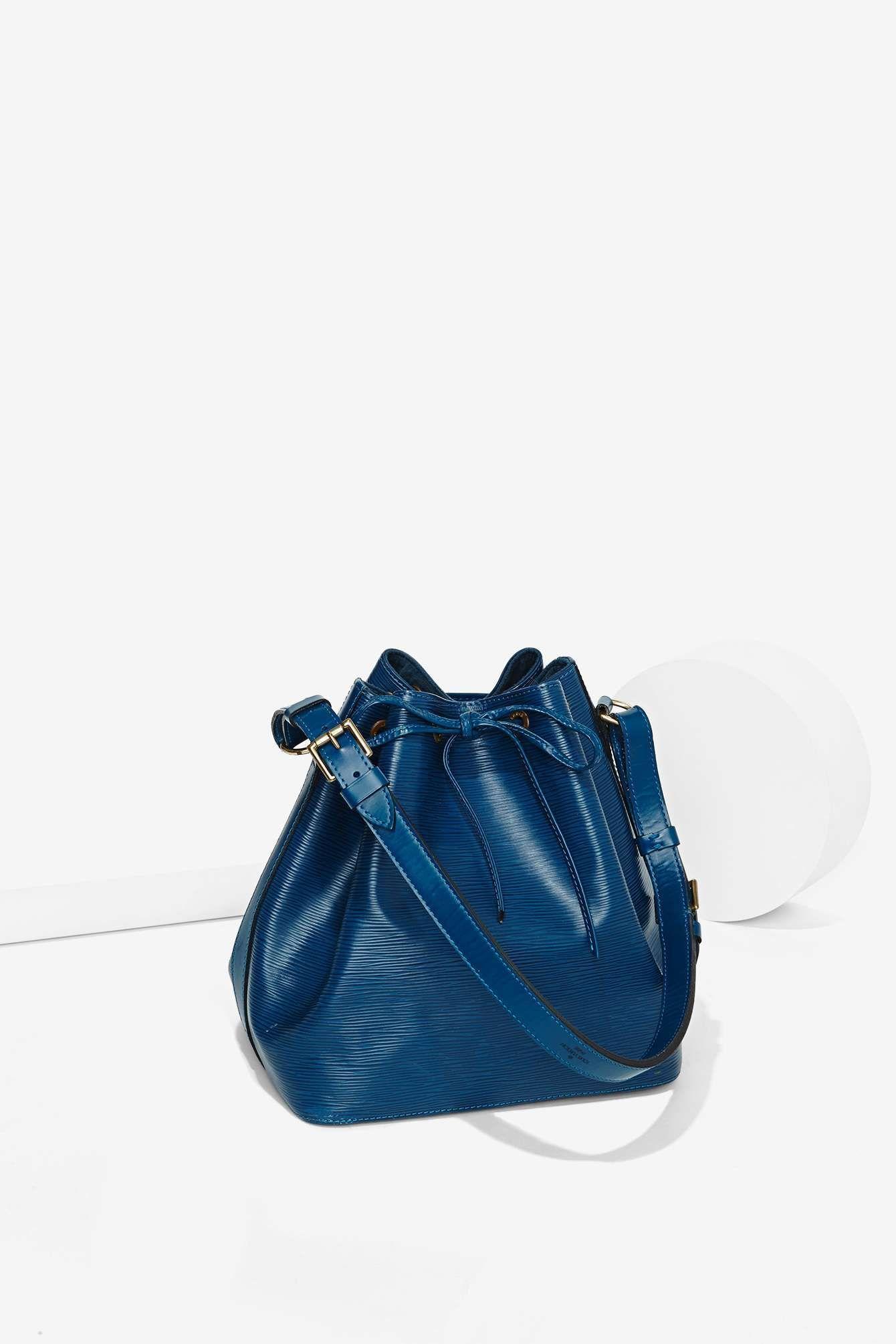8c416a5c1f2f Vintage Louis Vuitton Petit Noe Epi Leather Bag - Blue