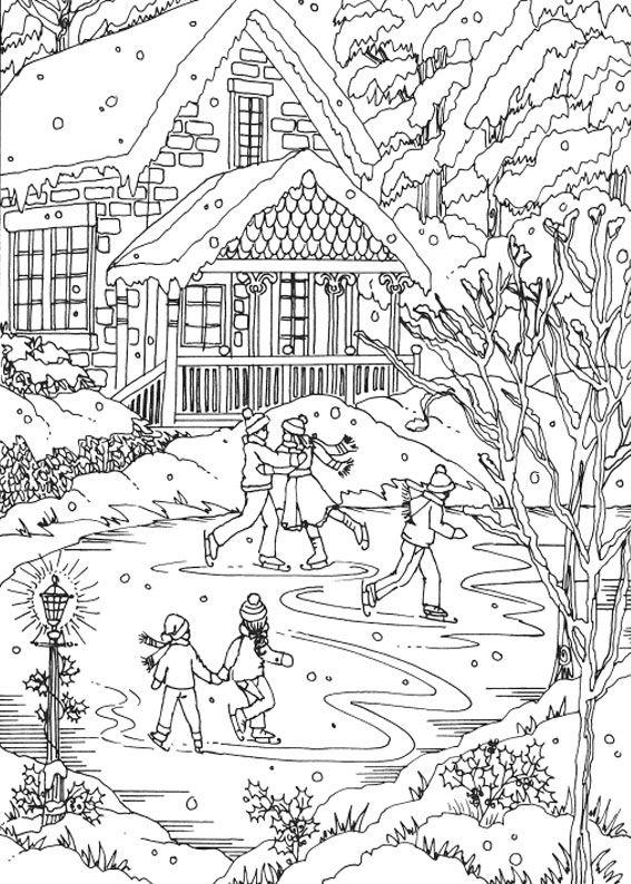 21 disegni di paesaggi invernali da colorare disegni for Disegni colorati paesaggi