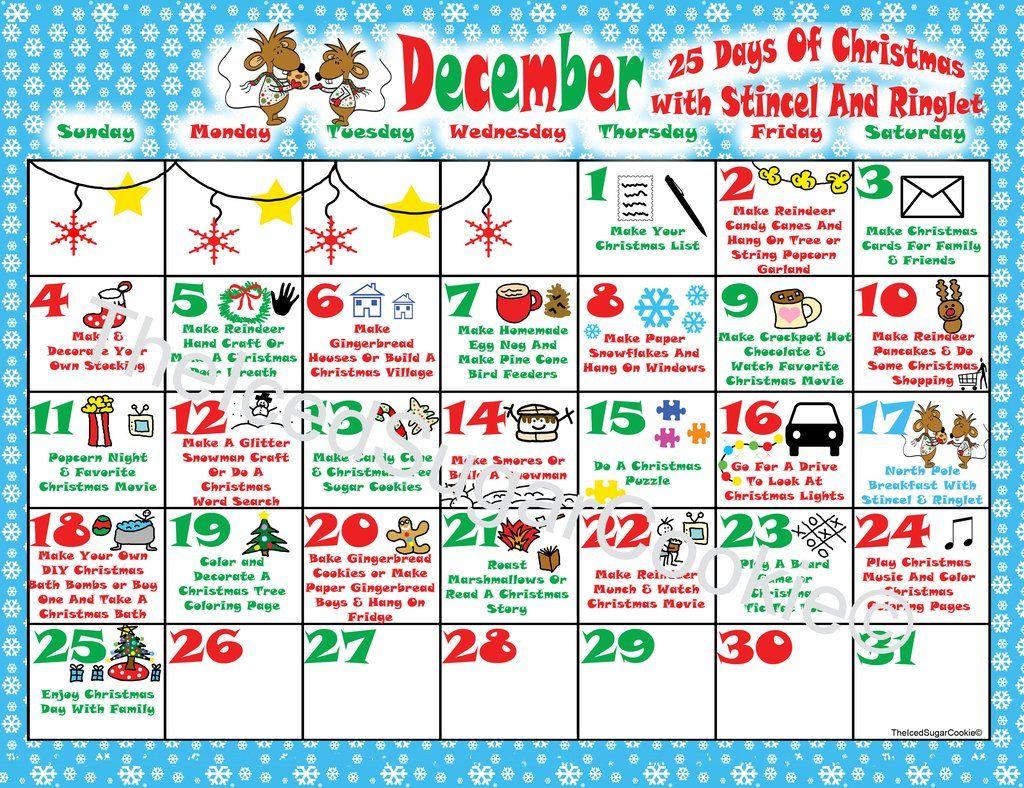 North Pole Breakfast With Stincel Amp Ringlet 25 Days Of Christmas Calendar Activity Planner Diy