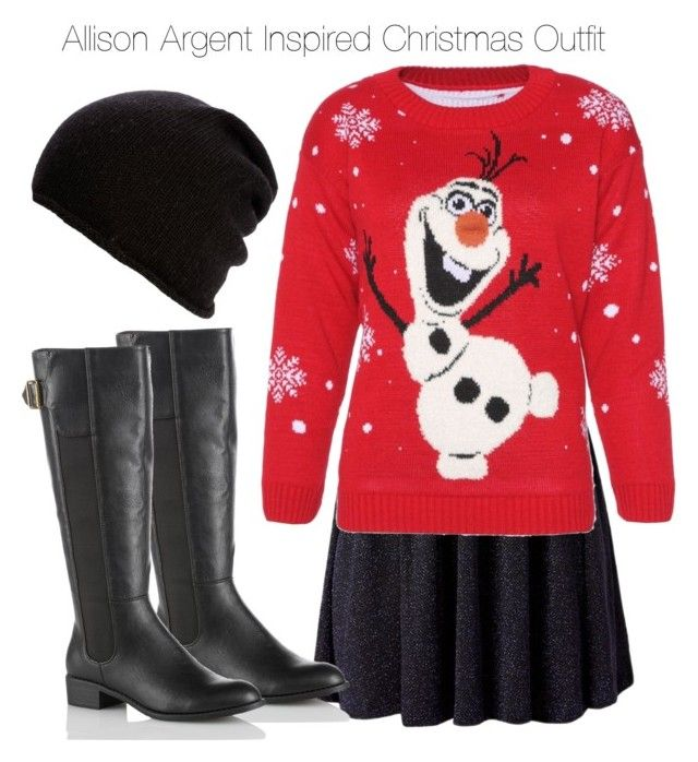 """Teen Wolf - Allison Argent Inspired Christmas Outfit"" by staystronng ❤ liked on Polyvore"