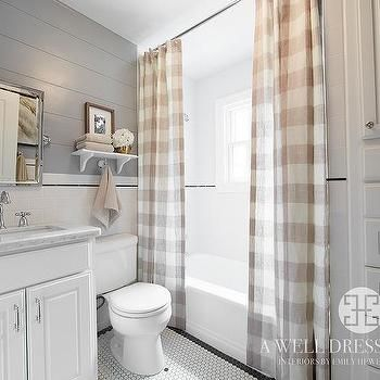 Buffalo Check Shower Curtains, Country, Bathroom