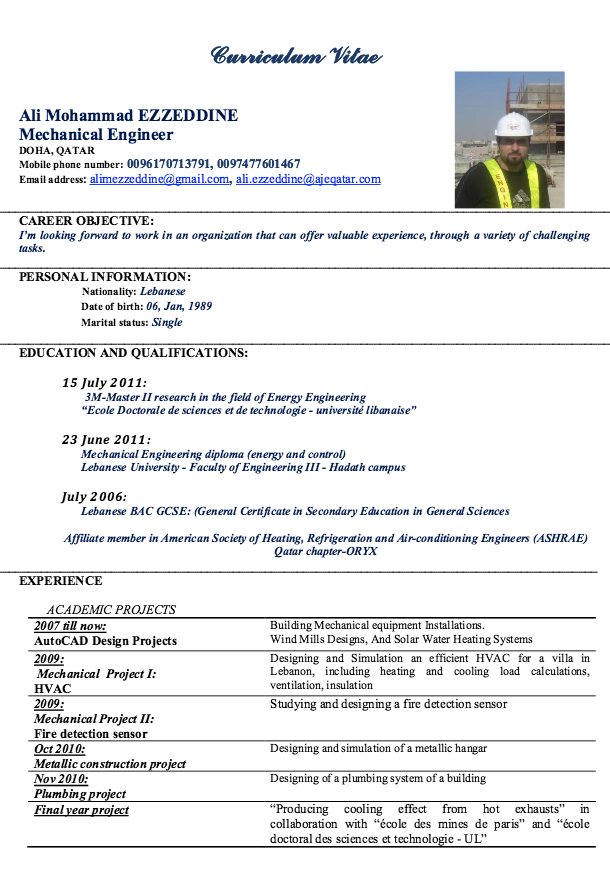 Mechanical Engineer Resume Sample  HttpResumesdesignCom