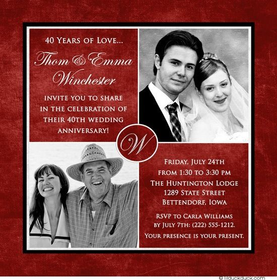 40 years of smiles photo invitation wedding anniversary joy love 40 years of smiles photo invitation wedding anniversary joy love wedding anniversary cards40th stopboris Gallery