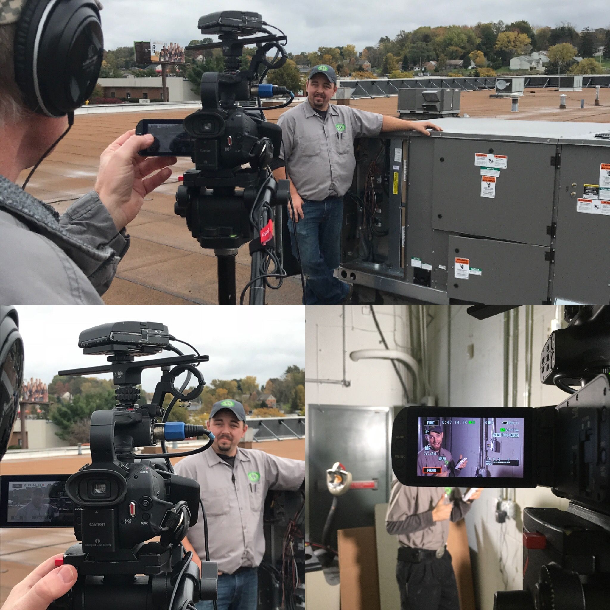 Behind The Scene For Filming Our Hvac Commercialmodel Heating