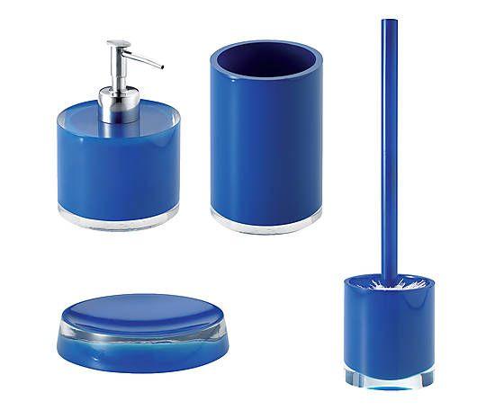 Set bagno in poliresina Foa blu 4 pezzi Accessori per