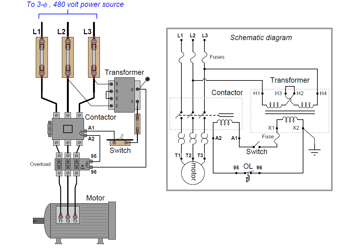Motor Control Circuit Wiring With Images