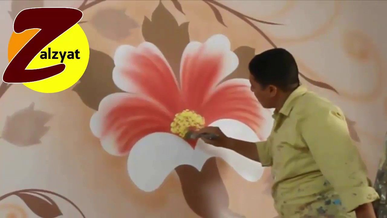 رسم استنسل مع ورده ودوائر نبرتيه Youtube Prints Painting Printed Shower Curtain