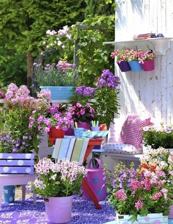 55 balkonbepflanzung ideen tolle blumen f r balkon - Hangepflanzen garten ...