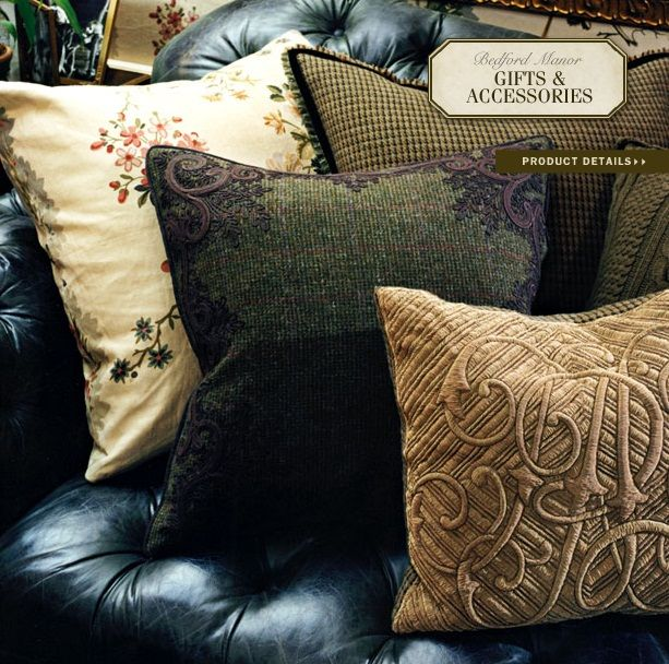 ralph lauren home bedford manor collection 16 pillows. Black Bedroom Furniture Sets. Home Design Ideas