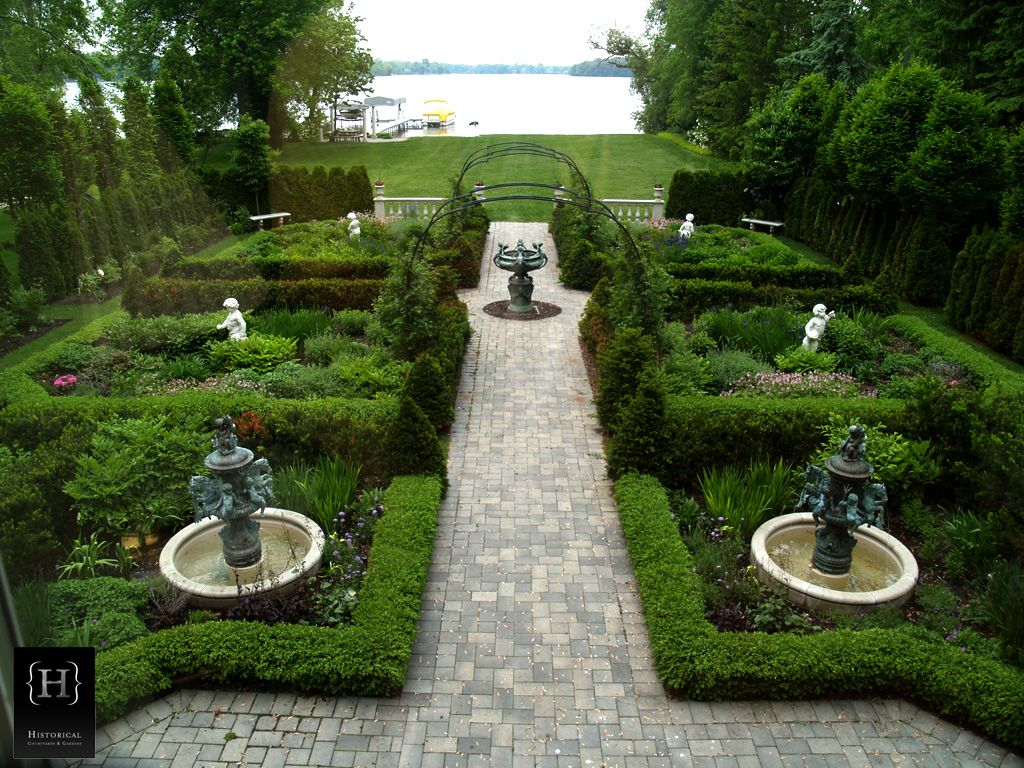 Historical Courtyards And Gardens Was Commissioned In 1998 To Create An  English Formal Estate Garden With