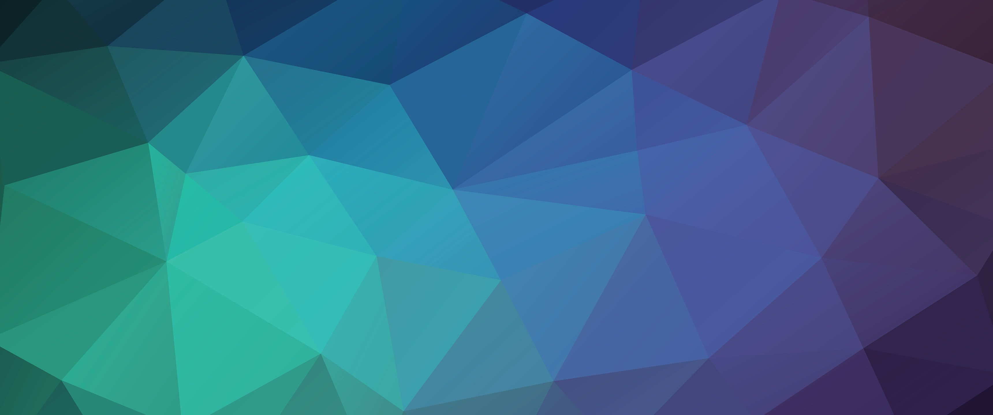 teal and purple digital wallpaper abstract low poly 2K