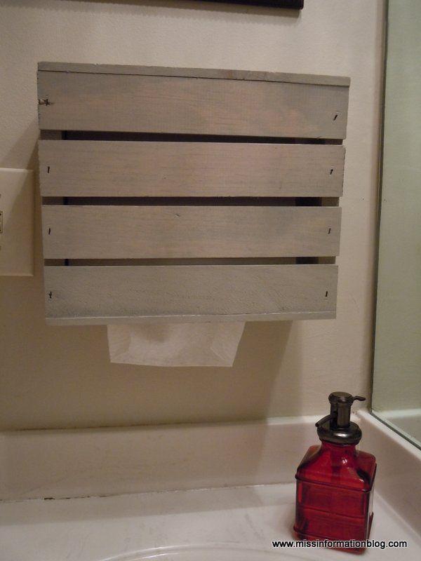 Kleenex Hand Towel Holder DIY | Towel holder, Towel holder ...