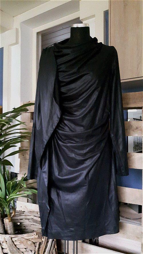 DAMEN KLEID LONG SHIRT BLACKY DRESS BERLIN Gr. 42 NEUWERTIG