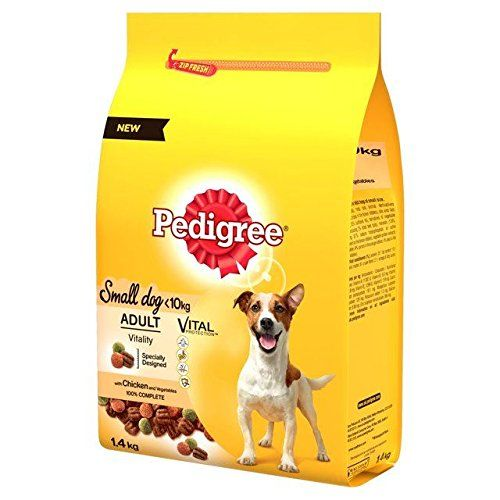 Pedigree Small Dog Complete Dry Chicken 14kg Pack Of 2 Click On