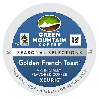 Green Mountain Fair Trade Golden French Toast Coffee, 100 count K cups !