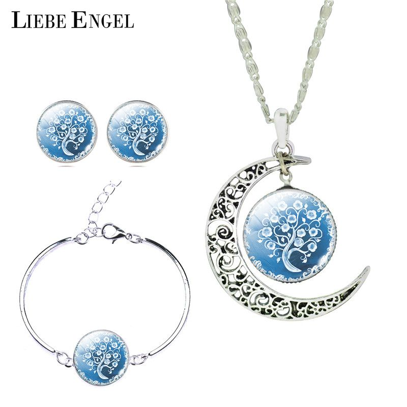 Lovely Design larme de forme des yeux collier pendentif bleu CRISTAL STRASS