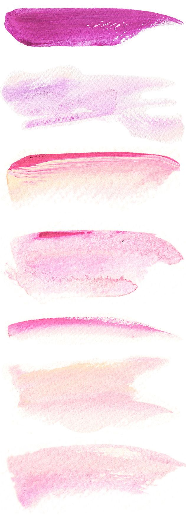 Free Downloadable Watercolor Brush Strokes Graphic Design