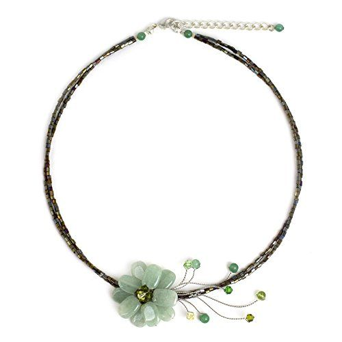 NOVICA Quartzite and Peridot Handmade Beaded Flower Choker Necklace, 17″,'Verdant Green Floral Chic'  http://stylexotic.com/novica-quartzite-and-peridot-handmade-beaded-flower-choker-necklace-17verdant-green-floral-chic/
