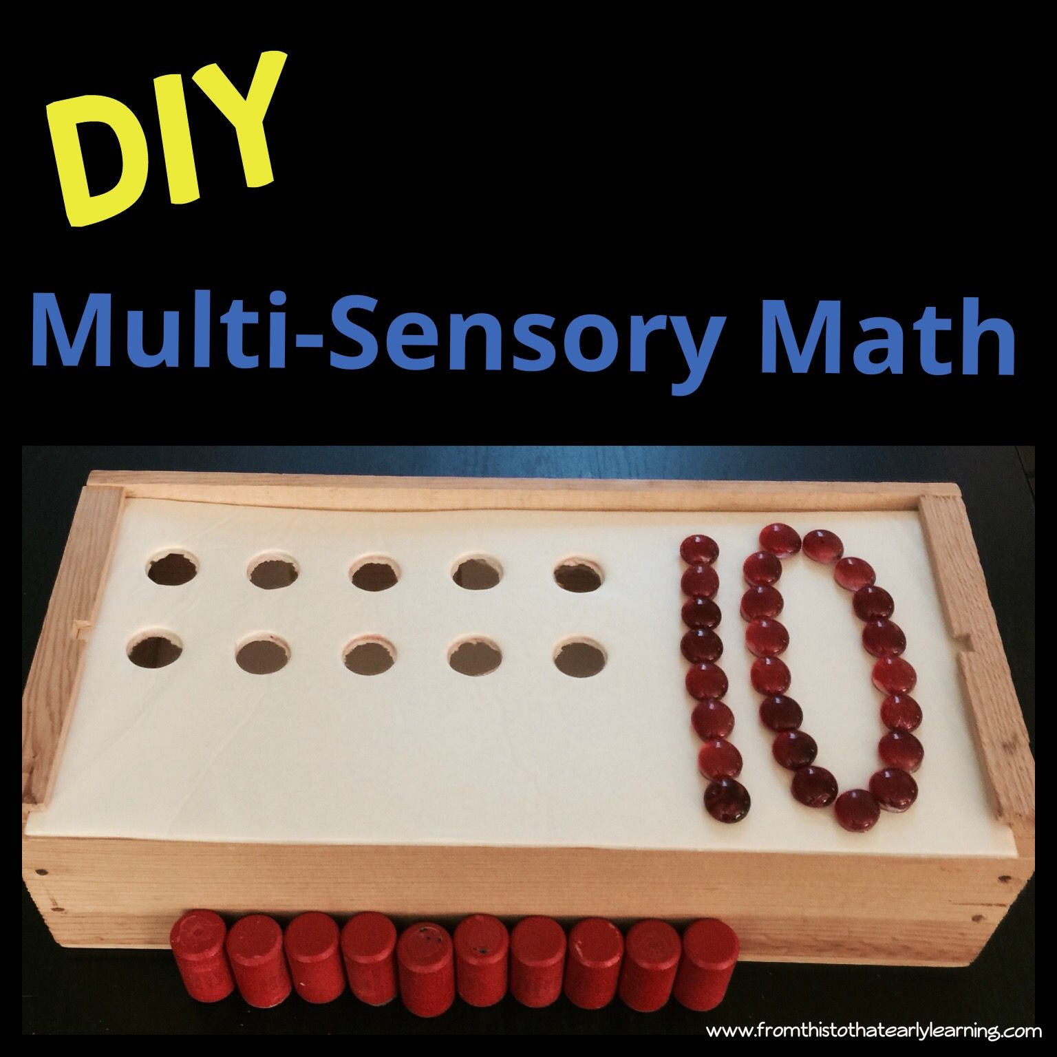 Diy Montessori Inspired Multi Sensory Math