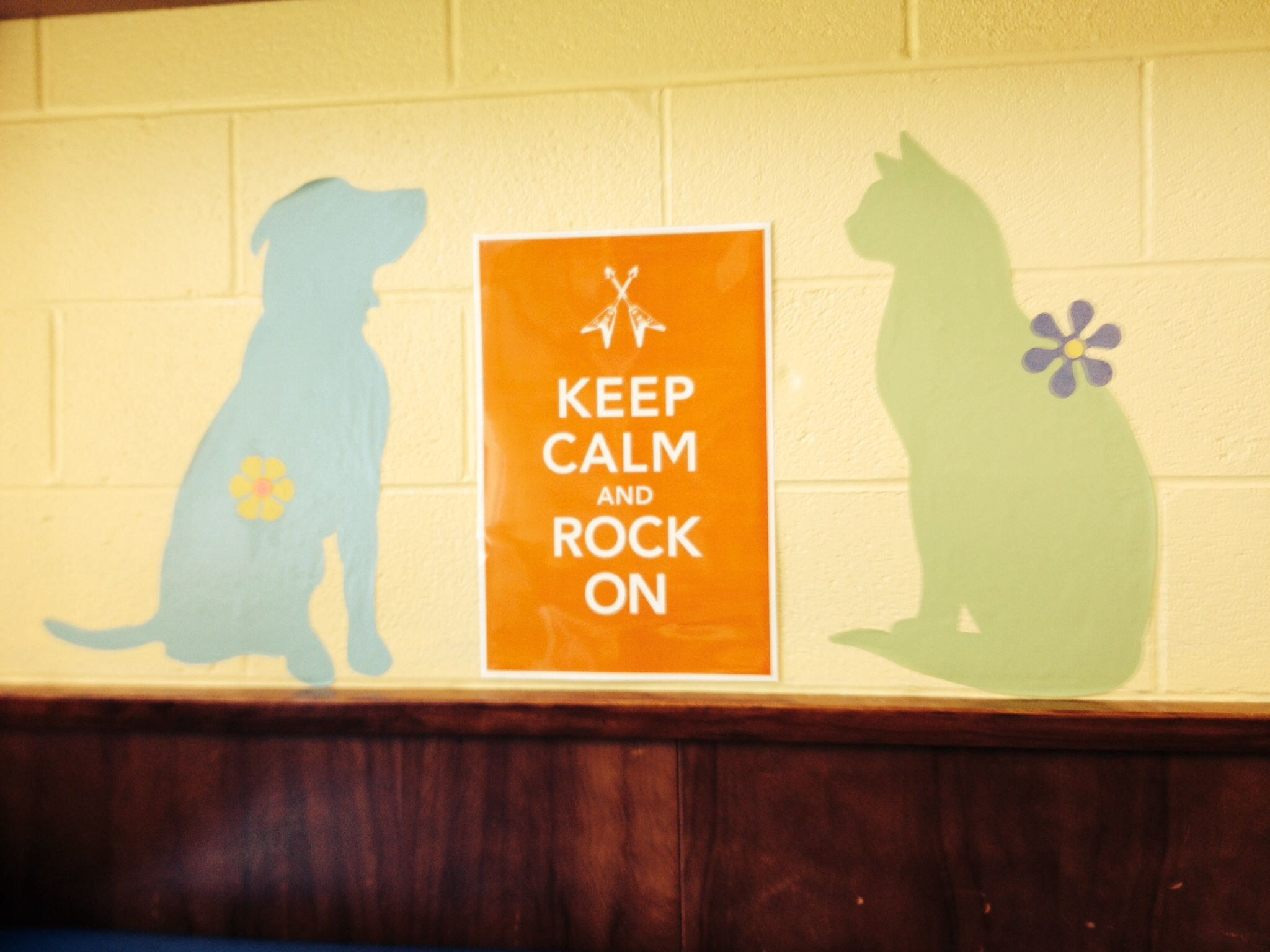 Pottery Barn decals and Keep Calm and Rock On Poster from Etsy. Pink ...