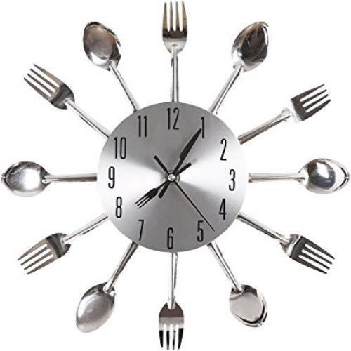 Kitchen Wall Clock Fork and Spoon home kitchen wall clock