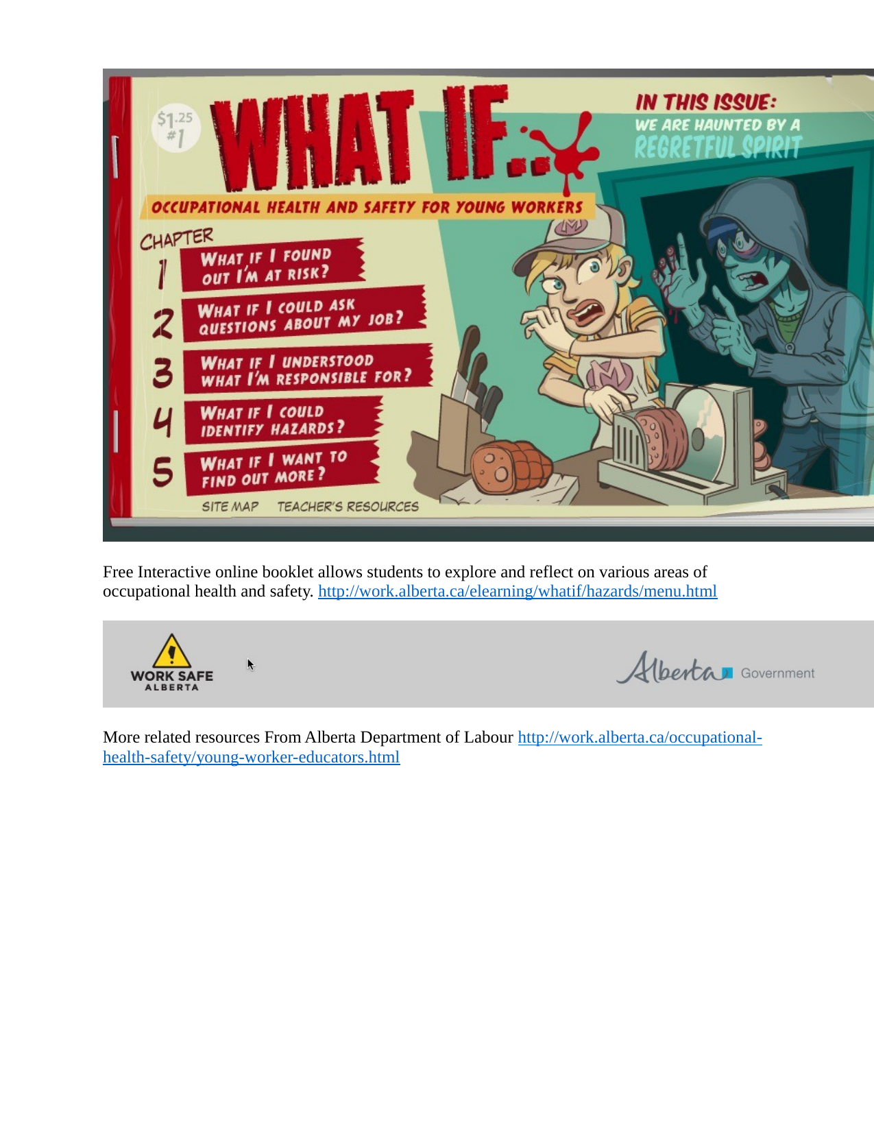 Free Interactive online booklet from AB Dept of Labour on