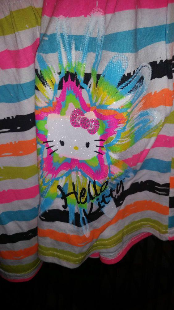 04fcf0f9efc2 Hello Kitty Long Skirt Girls size XL 14 16 Striped Multi Colored ...