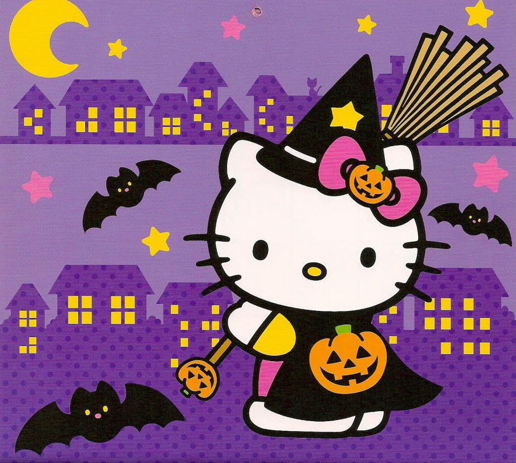 Hello kitty halloween background 50 hello kitty - Hello kitty halloween ...