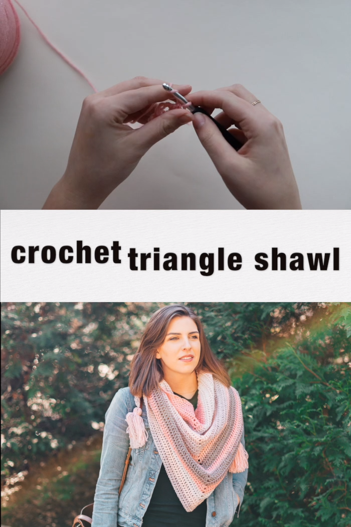 Photo of Crochet Triangle Shawl – easy free pattern with video tutorial