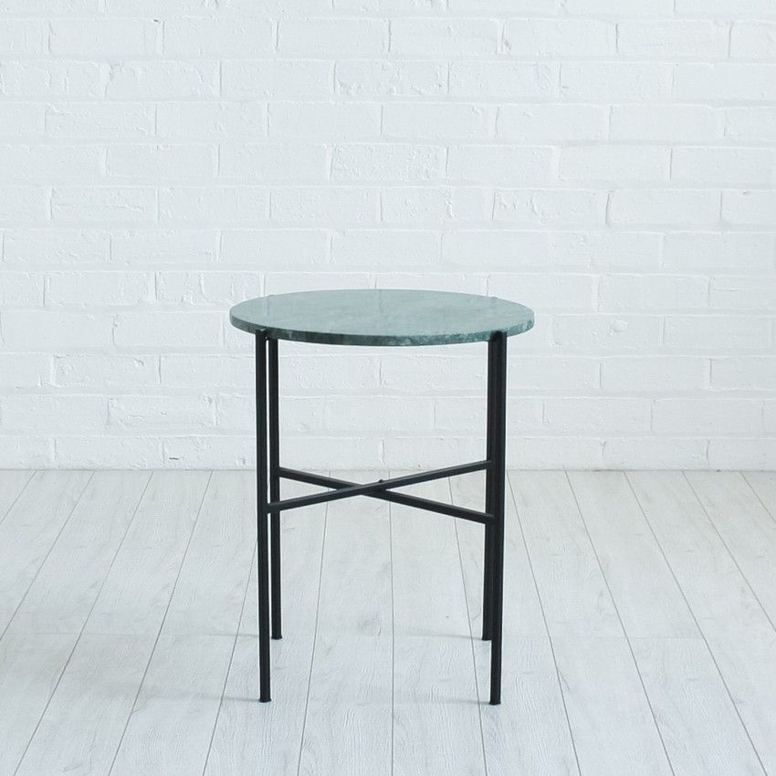 Green Marble Side Table Table Contemporary Furniture Vintage