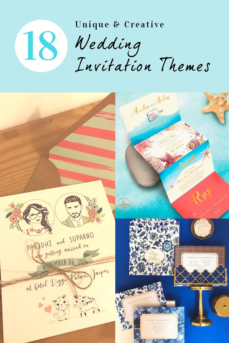 18 Unique Creative Wedding Invitation Card Designs For Your 2018 Indian Wedding Elega Wedding Invitations Marriage Invitations Creative Wedding Invitations