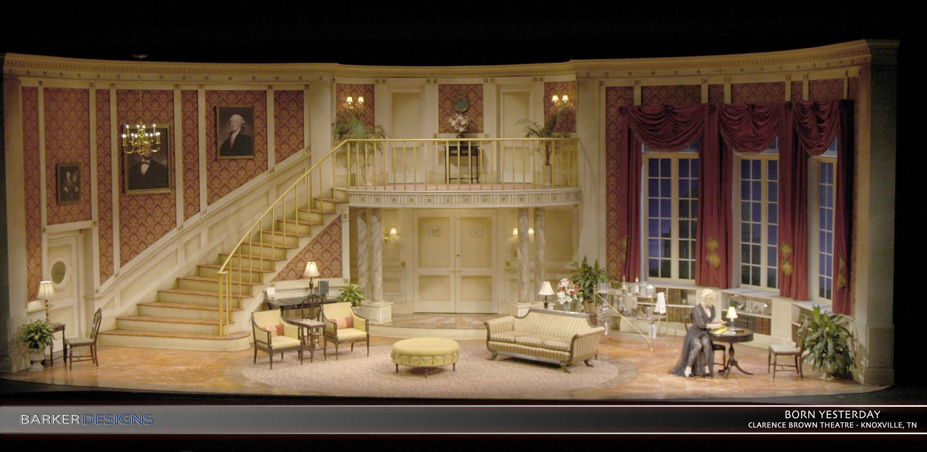 For this show the director asked for a fairly classic for Auditorium stage decoration