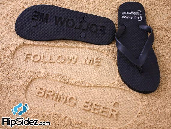 6d04d94aa31658 Follow Me Bring Beer Flip Flops by FlipSideFlipFlops on Etsy