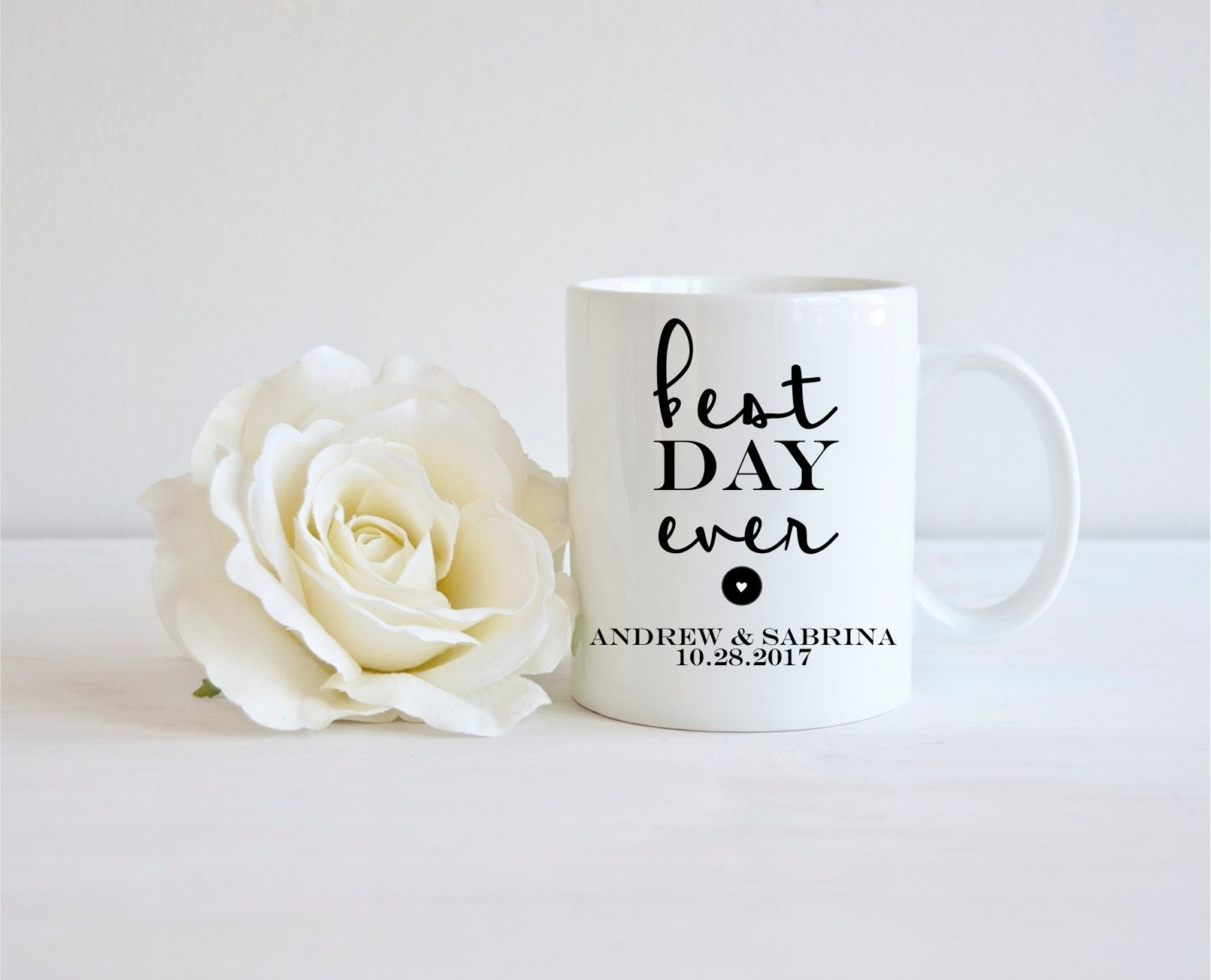 Best Day Ever Mug Personalized Wedding Mug Wedding Favor Wedding ...