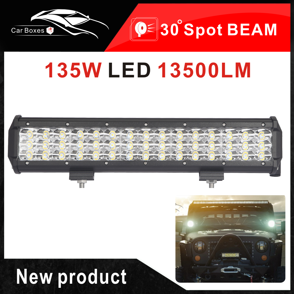 Specification Power 135w 3 Row Led Work Light Bar Number Of Chips 45pcs 3w Cree Leds Luminous Flux Approx 13 Led Light Bars Led Lights Led Driving Lights