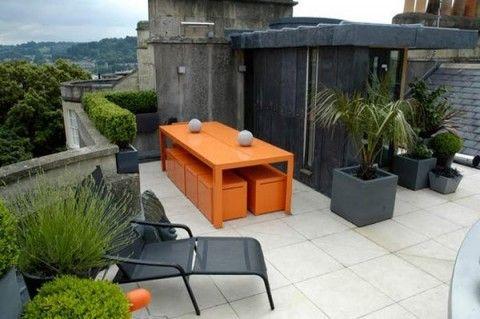 Terrazas De Estilo Minimalista Diseno De Jardines Urbanos Diseno De Terraza Patio Contemporaneo