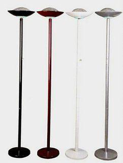 190 Watt Halogen Torchiere Floor Lamp 71 H Burgundy With Dimmer