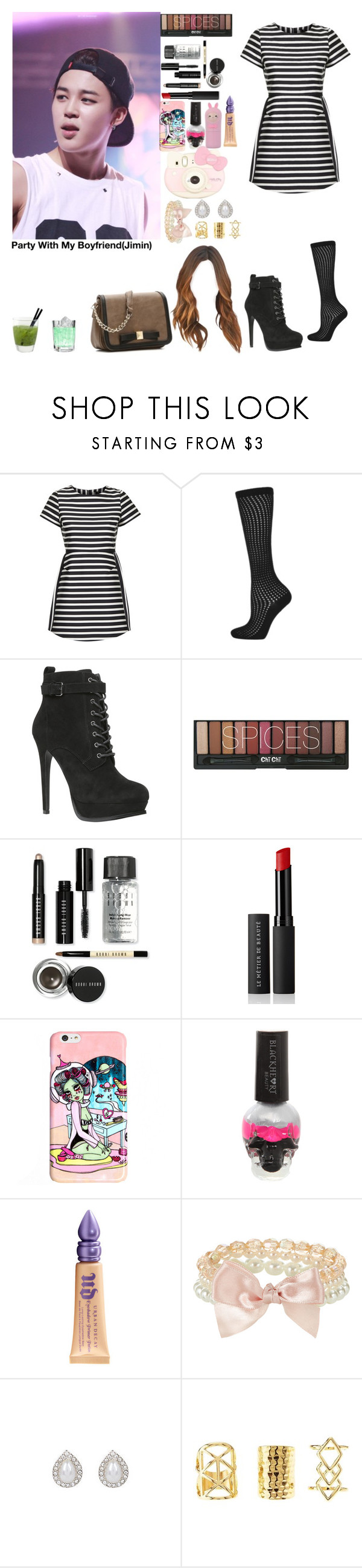 """Untitled #874"" by manuuhwang ❤ liked on Polyvore featuring Topshop, ALDO, Bobbi Brown Cosmetics, Le Métier de Beauté, Urban Decay, Hello Kitty, Accessorize, Charlotte Russe, Kelly & Katie and women's clothing"
