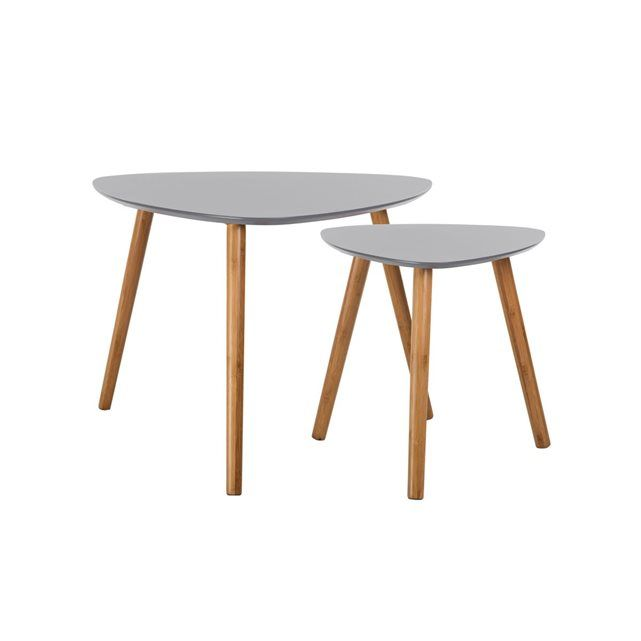 Table Basse Scandinave Lot De Table Basse Rendez Vous Et Bas - La redoute table basse pour idees de deco de cuisine
