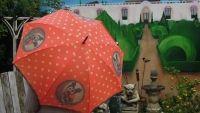 Orval Regenschirm umbrella mit Hundemotiv, www.homesweethome-decorations.de/shop