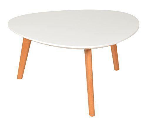 Ts Ideen Design Beistelltisch 80 Cm Oval Holz Buche Weiss Kaffeetisch