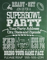 Super Bowl Invitation Chalkboard Super bowl party Bowls and Food