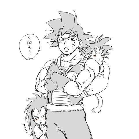 Bardock's family but gine is not here
