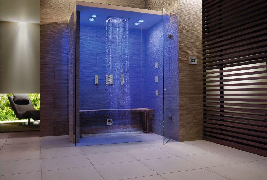 Een hypermoderne badkamer met de douche van de toekomst badkamer