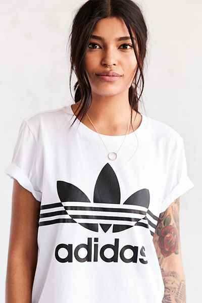 3ba6858bf1f adidas Originals Inked Boyfriend Tee - White | Fitness Clothes Are ...