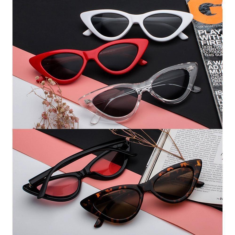 Details About Women Cat Eye Sunglasses Retro Classic Designer
